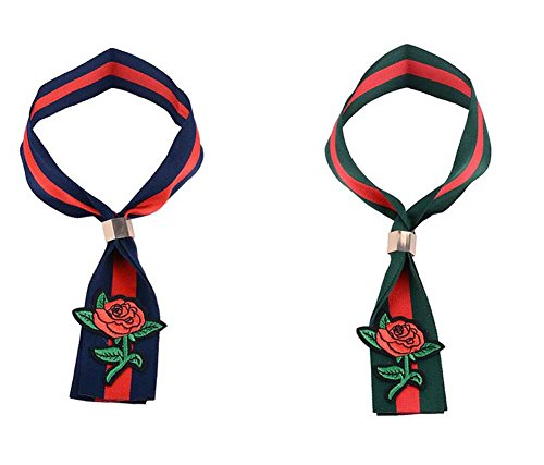 2 PC gesetzt Choker chinesische Stickerei Halskette Clavicle Kette Frauen Retro Blumen kurze Halskette handgefertigte Tuch Kragen Kleid Schmuck Zubehör (blau + grün) ( Color : Multi-colored )