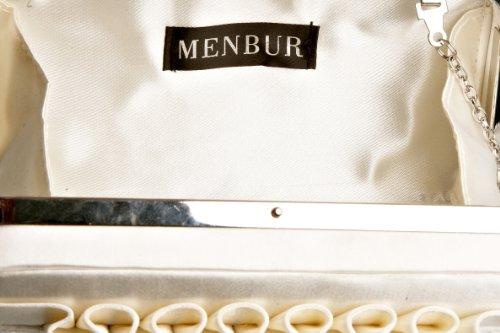Menbur, Borse tascapane, Donna Avorio(Elfenbein)