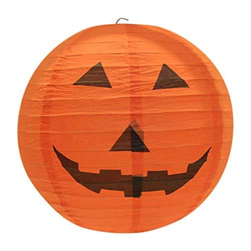 SimonX Halloween Papier Kürbis Hängen Laterne DIY Urlaub Party Dekor Beängstigend 20/30/40cm Dropshipping 20cm lächeln