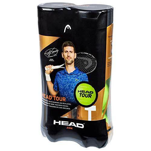 Head Testa Unisex Tour 2x 4Ball Tube Tennis, Giallo, Taglia Unica
