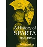 Front cover for the book A history of Sparta 950-192 B.C. by W.G. Forrest