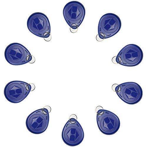 10 x RFID Transponder Chipschlüssel EM, 125KHz, Blau Cute Transponder Ring