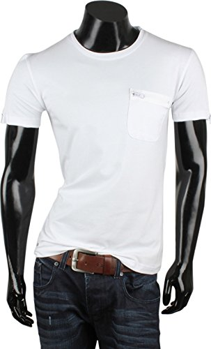 ... Tazzio Herren Polo Hemd Poloshirt Shirt Kurzarm Weiss Carlet ...