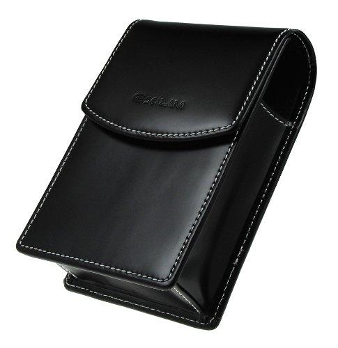 Casio EX-HZCASE Kompaktkamera-Tasche (Leder) für Exilim Digitalkameras schwarz
