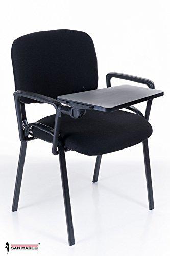 100 sedie conference da attesa con scrittoio ribaltina for Sedie per sala
