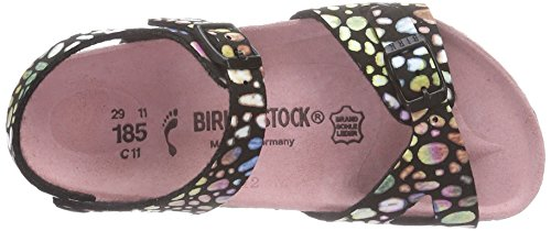 Birkenstock Rio, Sandales mixte enfant Noir (Magic Stones Black)