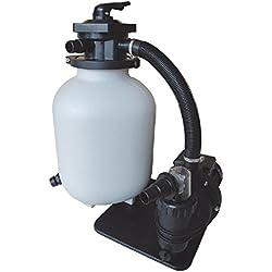 aquaforte filtro de arena Juego sq460Junior para 60m³ de piscinas, Bomba 10m³/h, 550W