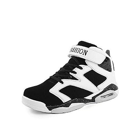Hommes Mode Chaussure de basket-ball Formateurs Respirant Chaussures de sport Chaussures de course De plein air Fond mou Augmenter les chaussures EUR TAILLE 38-45 , white , 44