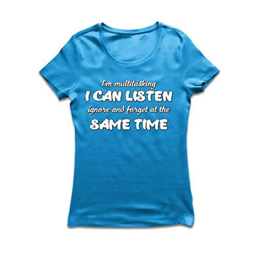 lepni.me Frauen T-Shirt Ich Bin Multitasking,Sarcastic Geschenk, lustiges Zitat (XX-Large Blau Mehrfarben)
