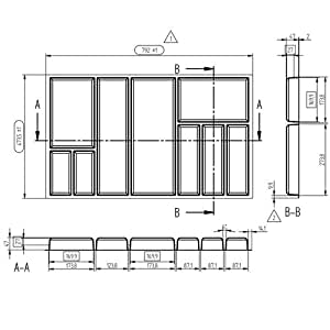 besteckeinsatz move 90 cm kunststoff k che haushalt. Black Bedroom Furniture Sets. Home Design Ideas