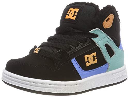 DC Shoes Mädchen Pure HIGH TOP Winter Skateboardschuhe, Mehrfarbig (Black/Multi/White Kmw), 34 EU (Dc-schuhe Für Kids High-tops)