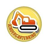 Kiwikatze® Schule - Kindergartenkind Bagger - 56mm Button Pin Ansteckbutton als Geschenk oder Mitbringsel