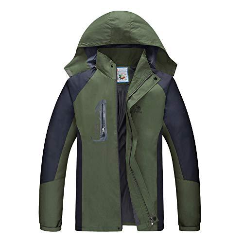 Bazhahei uomo top,uomo cappotto da alpinismo,giacca da uomo giacca a vento uomo antivento giacca di pile sport all'aperto di inverno giacca da sci impermeabile da trekking montagna versare l'avventura