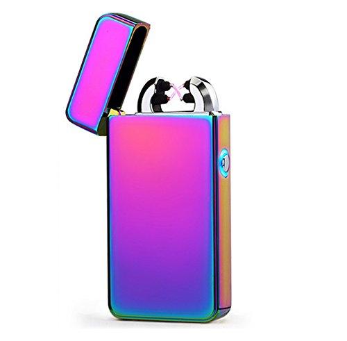 Aokvic USB elektronisches Feuerzeug aufladbar lichtbogen (Lila)
