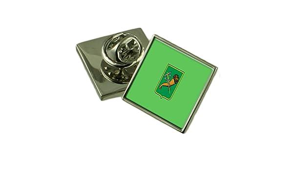 Kharkiv City Ukraine Sterling Silver Flag Cufflinks Engraved Box