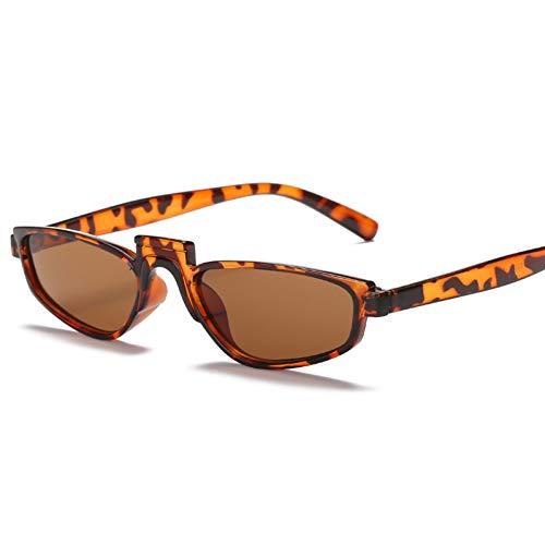 GJYANJING Sonnenbrille Frauen Metallscharniere Helle Sonnenbrillen KleineSonnenbrille Quadrat Mode Supermodel Sonnenbrille Shocked Persönlichkeit Sonnenbrille