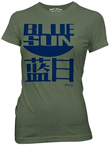 Firefly Blue Sun Serenity Juniors Olive Green T-Shirt | S