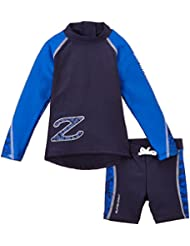 Zunblock Ensemble anti-UV Enfant Haut / Short Bleu Taille 98/104
