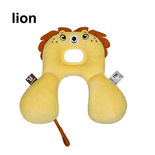 BouBou Kinder Kleinkind Kleinkind Neugeborenen Cartoon Tier U-förmigen Reise Autositz Kissen Kinderwagen Kopf Nackenstütze Kopfstütze - Lion