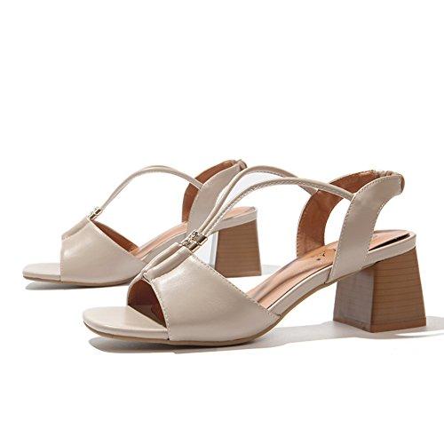 Sommer römisch rauh mit sandalen/Britische fische mund high heels sandalen B