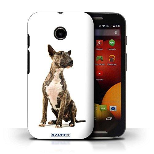 Kobalt® Imprimé Etui / Coque pour Motorola Moto E (2014) / Dalmatien conception / Série Chiens Bull Terrier