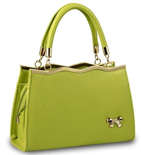 Borsa Della Signora Signore Bowknot Fashion Green