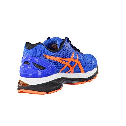 Asics Gel-Nimbus 18, Chaussures de Running Compétition Homme electric blue-hot orange-black