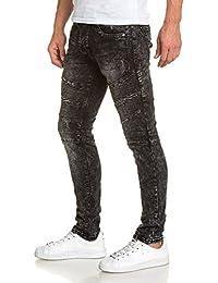 BLZ jeans - Jean homme noir mode délavé nervuré