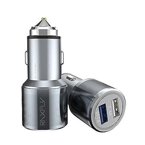 Chargeur de Voiture RAXFLY Adaptateur Prise avec Double USB Ports