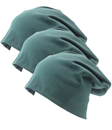 I VVEEL Unisex 3 Pack Indoors Soft Bequem Baumwoll Beanie für Haarausfall, Krebs,...