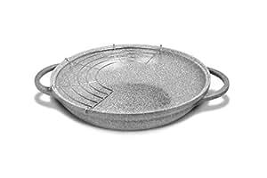 Bialetti 0B7WK032 Wok/Stir–Fry pan frying pan - Frying Pans (Round, Wok/Stir–Fry pan, Grey, 32 cm)
