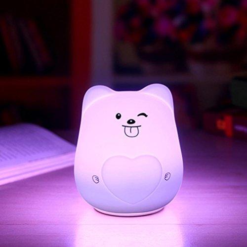 Malloom lampe à LED pour enfants Mini Charmant Visage souriant Veilleuse Décor de chambre à coucher (D)