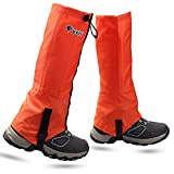 MAGARROW Outdoor wasserdichte Gamaschen Youth Leg Gaiters Kids Snow Gaiters Waterproof Shoe Cover für das Klettern (Orange)