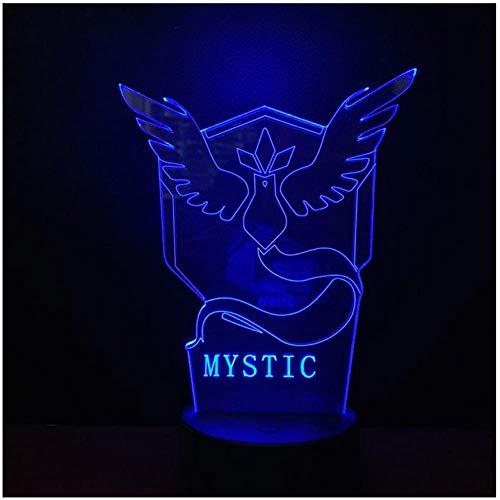Cartoon 3D Lampe Pokemon Spielfiguren Team Mystic Nachtlicht Led Birne Multicolor Kinder Geschenk Kind Spielzeug Fernbedienung