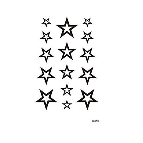 X-010 - (Aq-098) - Pegatinas para tatuajes temporales Pegatinas para el cuerpo temporal Hoja de adhesivos para tatuajes para - mujer