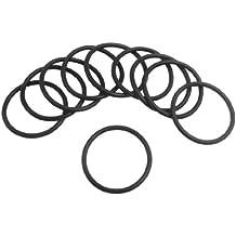 sourcingmap® 10 X Negro De Silicona O Anillos De Sello De Aceite Juntas Arandelas De 30 mm X 2.65mm
