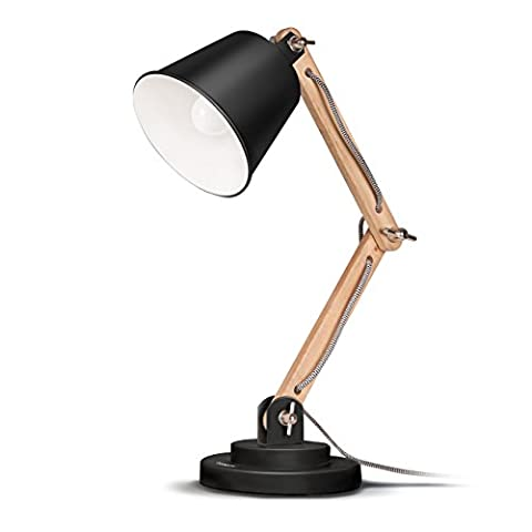 Tomons schwenkbare Schreibtischlampe Leselampe Retro Design für Schreibtisch und Nachttisch,