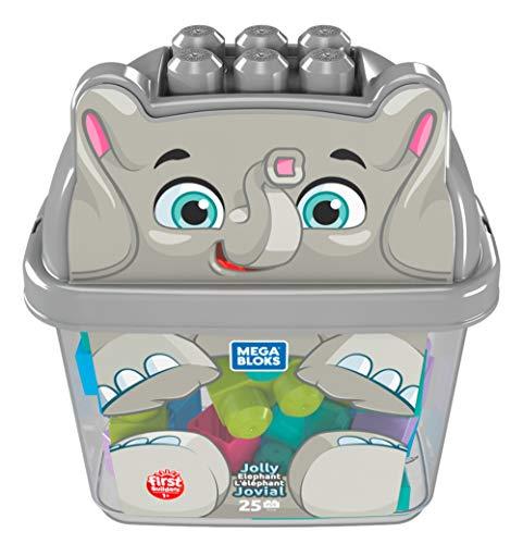Mattel - Mega Bloks bloques Elefante Feliz, bloques de construcción para bebé + 1 año ( GFX30)