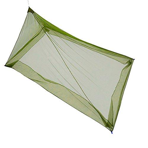 theBlueStone Assez Doux pour extérieur Moustiquaire pour Lit Double/Single Camping Couverture, Haute densité Net WIHT 4 Chevilles et Un Sac de Transport Inclus
