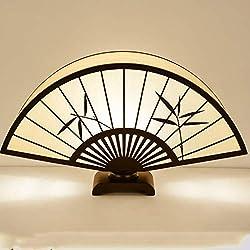 Chinesische Tischlampe Ventilator Nachttischlampe Schlafzimmer einfache Beleuchtung Wohnzimmer warme Dekoration kreative Persönlichkeit Retro chinesischen Stil Kultur