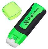 Läufer 69241 Pocket, Radierstift in Markerform, mit Schutzkappe und Clip, grün, Blisterkarte enthält 1 Radiergummi