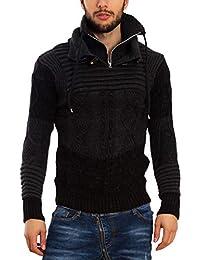 Toocool - Maglione Uomo Pullover Collo Alto Dolcevita Caldo Invernale Zip  B305 8736640ae60