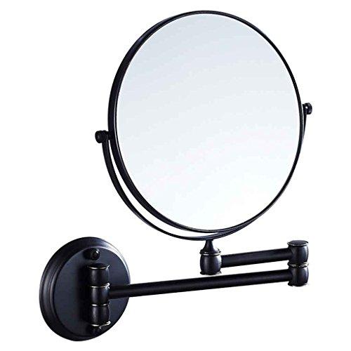 Miroirs de Salle de Bains de Salle de Bains de Salle de Bains d'hôtel de Double Face à Deux côtés Pliant de 8 Pouces (Couleur : Noir)