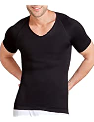 Spanx Zoned Performance Mens Seamless Nylon V Neck for Firm Chest, Stomach & Back Control with Breatheasy Zones - Available in Various Colours & Sizes