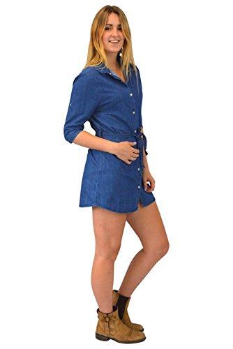 EX Mango - Robe - Femme Bleu Bleu Jean - Bleu - S