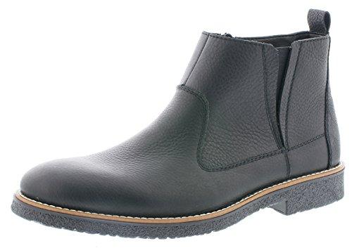 Rieker Herren Chelsea Boots 33660,Männer Stiefel,Halbstiefel,Stiefelette,Bootie,Schlupfstiefel,flach,schwarz/schwarz, EU 41