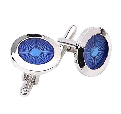 1 Paar Manschettenknöpfe Mode Blau Auge Form Dekoration Hemd Hochzeit Cufflinks Exquisite Zubehör Geschenk Praktisch