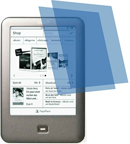 2x ANTIREFLEX matt Schutzfolie für Tolino Shine, Shine 2 HD, Page Premium Displayschutzfolie Bildschirmschutzfolie Display Schutz Glas Schutzhülle Displayschutz Displayfolie Folie