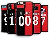IDcaseFR Coque Silicone Bumper Souple IPHONE 5C - Football Rennes 2019/2020 Nouveau Maillot Domicile Personnalisable NOM et PRENOM au Choix Swag Case TPU + Film de Protection Inclus