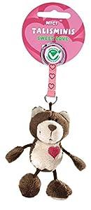 Nici 36680 - Llavero del oso, de 7 cm Talisminis, marrón oscuro